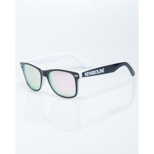 OKULARY NEW BAD LINE / CLASSIC INSIDE BLACK-WHITE FLASH PINK MIRROR 1207 - NEW BAD LINE